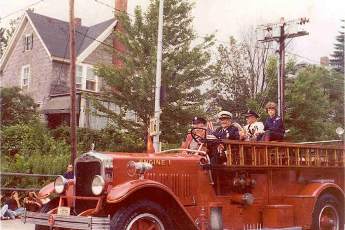firemen on truck